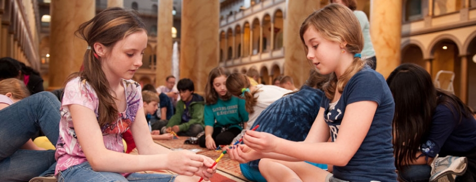 Geodesic Dome School Program. Photo by Kevin Allen.