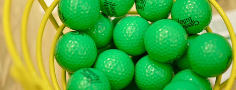 Mini golf golf balls. Photo by Alison Dunn Photography.