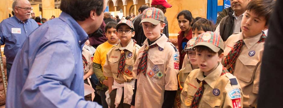 Boy Scouts participate in varied Museum projects related to the built environment. Photo by Kevin Allen.