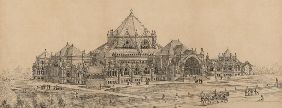 Library of Congress. Competition entry for the Library of Congress by Alexander R. Esty, c. 1880. Library of Congress, Prints & Photographs Division, LC-DIG-ppmsca-31519.