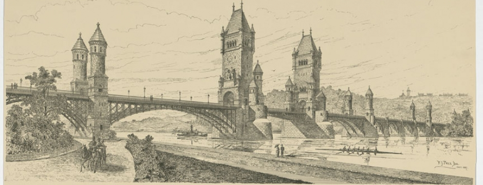 Memorial Bridge. Proposed Memorial Bridge in Honor of General U.S. Grant by Smithmeyer & Pelz, 1887. Library of Congress, Prints and Photographs Division, LC-DIG-ppmsca-31532.