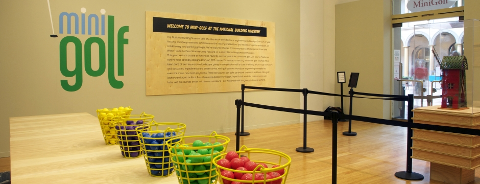 Mini Golf at the Museum. Photo by Allen Sprechter.