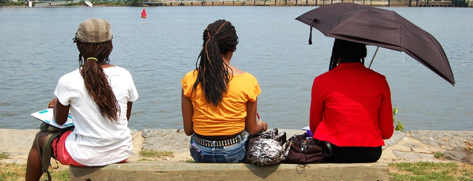 Investigating Where We Live participants explore Anacostia. Photo by Museum staff.
